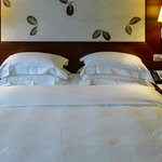 Luxury bedding in our Park Room