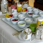 The healthy breakfast in our Park Room