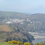 view over Lynton from the coastal path