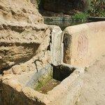 Deel van het eeuwenoude irrigatiesysteem dat de tuin verzorgt