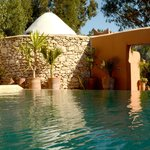 La piscine chauffée à 28° / The heated pool