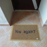 lovely touch ....our own door mat