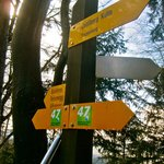 sign posts for hiking trails