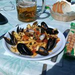 Mussels and clams with pasta