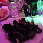Mussels app as an entree