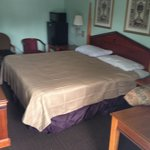 King Size Room With A Relaxing Bed, Microwave And Refrigerator, TV, Brand New Furniture Has Been