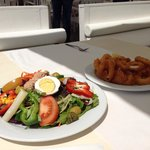 Mix salad&Fried calamares rings!