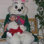 The Easter bunny is here every year!