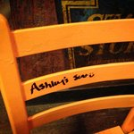 They let us write our names on the chairs