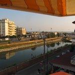 vista di viareggio del mare e del fiume camaiore