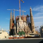 View of Sagrada Familia from the other sun floor.