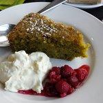 Flourless pistachio and lime cake