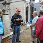At Recoleta cemetery with Fabien