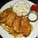 Fish n Chips: Beer battered rockfish fillets with house made tartar sauce and coleslaw
