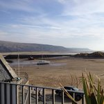 Barmouth beach - view from our B & B car park
