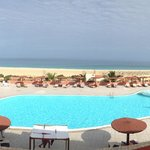 View of the pool & beach from the buffet restuarant