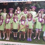 Kids made these lei's at Penguin Camp