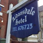A welcoming sign to the best guest house in Brid'!