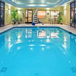 Splash around in our heated indoor pool open from 6a-11p daily.  Summertime indoor all year roun
