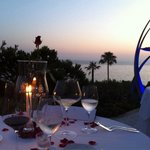 Das Restaurant. Einmalige Aussicht auf den Ozean