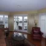 Living room of the suite--balcony beyond doors