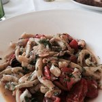 Home made pasta with seafood
