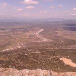 vue du sommet sur le nord de l'herault