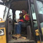 Grandaughter checking out the dozer