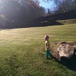 Our son enjoying the grounds