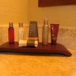 Upscale toiletries are a very nice touch