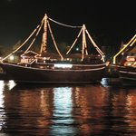Dhow Lit up on the Creek