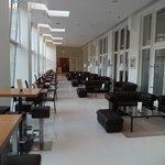 Between reception and breakfast room ( Bar area )