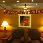 El lobby del hotel en halloween