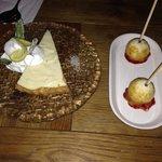 Dessert, Margarita pie and creme brûlée lollipops