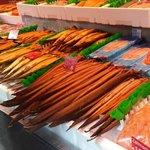 Smoked fish along the Albert Cuypmarkt