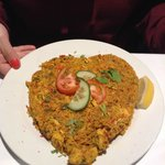 Chicken Biryani - heart shaped - nice presentation