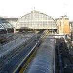 Panorama della stazione dall'hotel
