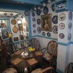 Mock Turtle Tea Shop Blue Willow Plates!