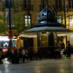 The square outside the hotel - a safe place to sit and take the evening air