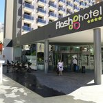 Entrance to Flash Hotel.