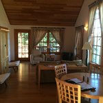 Inside the guest lodges