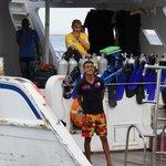 Crew auf einem Tauchboot
