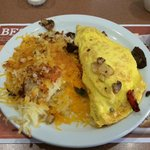 Delicious Philly Cheese Steak Omelette At Denny's