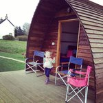 Enjoying the wigwam