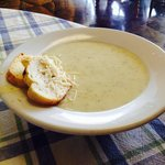 Bowl of Homemade Dill Havarti Soup