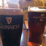 A Guinness and a Smithwick's