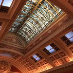 The bank ceiling