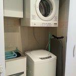 Washing machine and dryer, washing liquid provided.