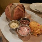 Bread with sweet and savoury spreads