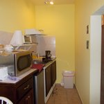 The kitchen in our room